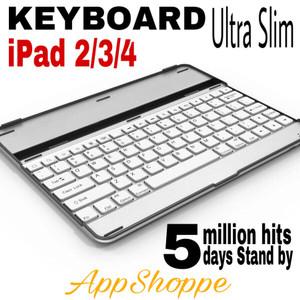 Harga ipad 2 3 4 wireless bluetooth 3 0 interface keyboard white   HARGALOKA.COM