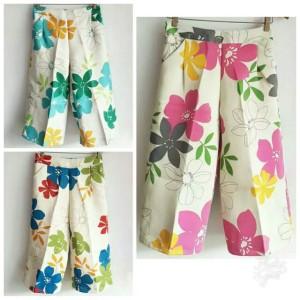 Harga celana kulot flower beach new celana wanita motif bunga cantik | HARGALOKA.COM