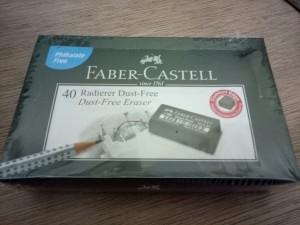 Harga penghapus pensil faber castell eraser dust free 7294 hitam grosir | HARGALOKA.COM