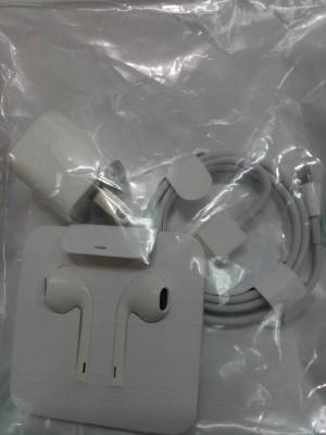 Harga paket 3 in 1 iphone 7 batok carger handsfree dan kabel data | HARGALOKA.COM