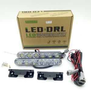 Harga drl led model fortuner terang 2 x 6 titik lampu led drl 6   HARGALOKA.COM