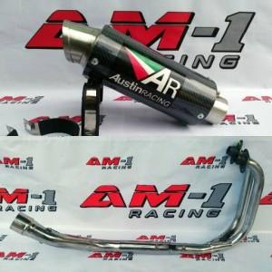 Harga knalpot racing ar austin carbon fullset ninja 250fi 250 karbu abs | HARGALOKA.COM