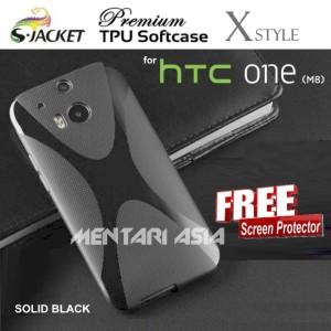 Harga softcase for htc one m8 s jacket premium x style tpu free sp   HARGALOKA.COM