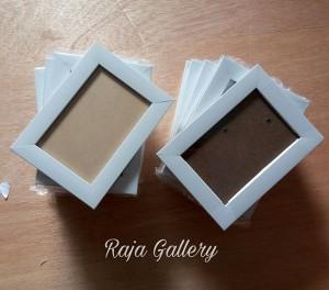 Harga frame bingkai foto 4r 10x15cm   warna putih white   | HARGALOKA.COM