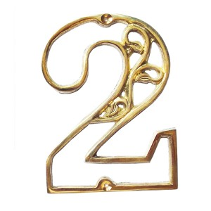 Harga 11cm nomor daun ukir papan nama rumah toko gedung kuningan   no | HARGALOKA.COM