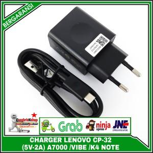 Harga original 100 charger lenovo a7000 vibe k4 k5 note x2 x3 c p32 5v 2a | HARGALOKA.COM