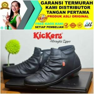 Harga sepatu boots pria wringkle zipper premium casual sports motor kerja   HARGALOKA.COM