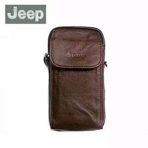 Harga tas gadget jeep 631 kulit asli   dompet hp selempang pinggang   cokelat | HARGALOKA.COM