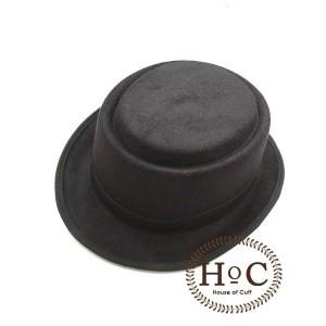 Harga houseofcuff topi pork pie hat black laken   | HARGALOKA.COM