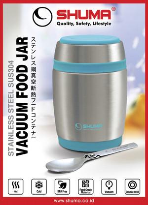 Harga rantang shuma 580 ml   kotak makan tahan panas lunch box stainless   merah   HARGALOKA.COM