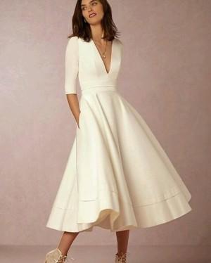 Harga midi dress scuba putih   multicolour | HARGALOKA.COM