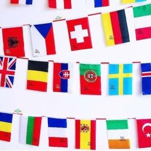 Harga bendera negara dunia eropa asia afrika isi 50 negara uk 14 x 21 5   HARGALOKA.COM