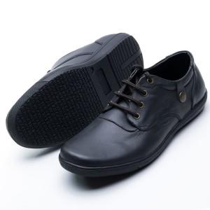 Harga sepatu casual pria handmade model tali kerja dan santai sol karet 202   hitam | HARGALOKA.COM