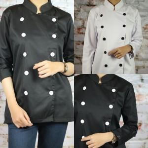 Harga baju chef klasik lengan panjang untuk | HARGALOKA.COM