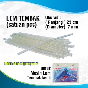 Info Isi Lem Tembak Glue Gun Stick Refill Isi Lem Tembak 0 7mm Kecil Katalog.or.id