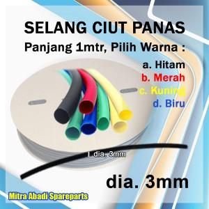 Katalog Selang Ciut Panas Heat Shrink Tube 3mm 1 Meter Katalog.or.id