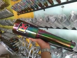 Harga knalpot custom akra pelangi for ninja 250 vixion cb fu dll | HARGALOKA.COM