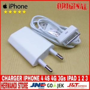 Harga charger iphone 4 4s 4g 3gs ipad 1 2 3 ipod itoch apple original 100   | HARGALOKA.COM