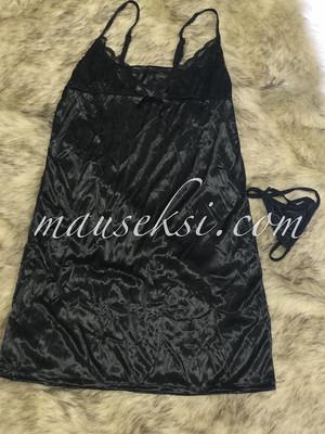 Harga elsa sexy lingerie babydoll set g string black baju tidur   HARGALOKA.COM