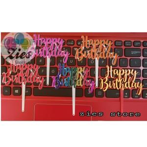 Katalog Cake Topper Happy Birthday Tusukan Hiasan Kue Hbd Sambung Acrylic Katalog.or.id