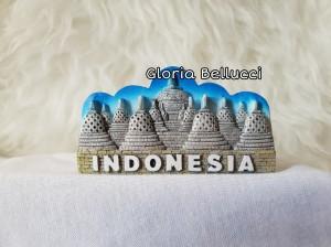 Harga souvenir tempelan magnet kulkas candi borobudur indonesia | HARGALOKA.COM