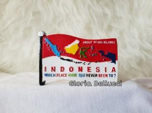 Harga souvenir tempelan magnet kulkas negara indonesia jakarta bendera | HARGALOKA.COM