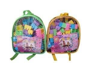 Harga mainan edukasi anak   happy kids block lego building block isi 65   HARGALOKA.COM