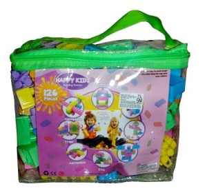 Harga mainan edukasi anak   happy kids block lego building block isi 126   HARGALOKA.COM