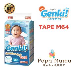 Harga nepia genki tape m64 m 64 perekat diaper popok bayi baby daya   HARGALOKA.COM