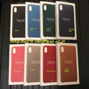 Harga 100 original apple iphone xs max leather case promo price   black   | HARGALOKA.COM