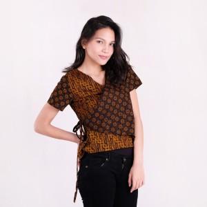 Harga batik pria tampan   blouse sakura parang klithik ayu sogan kombinasi   cokelat tua | HARGALOKA.COM