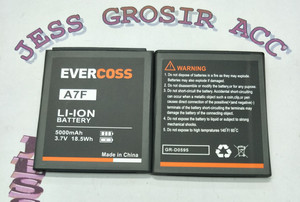Harga baterai battery original double power evercross evercoss cross a7f   | HARGALOKA.COM