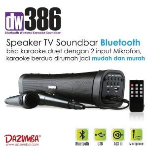 Harga speaker karaoke bluetooth soundbar khusus untuk tv dazumba dw386   mic | HARGALOKA.COM