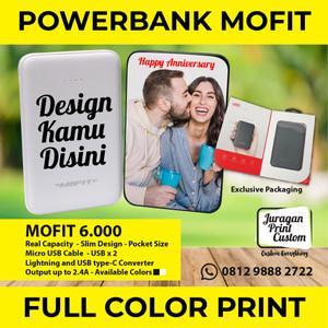 Harga powerbank custom print 6 000mah murah design bebas mofit power | HARGALOKA.COM