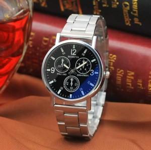 Harga jam tangan quartz analog dial bulat kaca warna hitam glow in the   HARGALOKA.COM