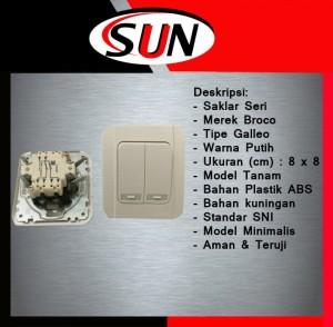 Harga saklar switch pencetan listrik lampu double dobel seri galleo | HARGALOKA.COM