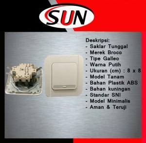 Harga saklar switch pencetan listrik lampu single tunggal galleo | HARGALOKA.COM