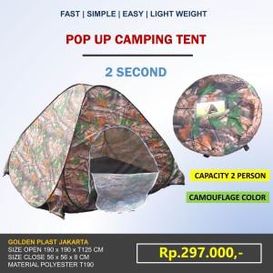 Harga pop up camping tent tenda kemping 2orang outdoor cepat simple | HARGALOKA.COM