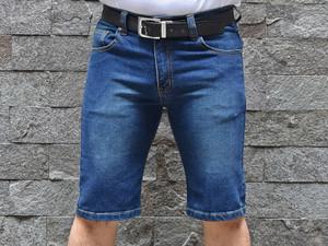 Harga celana pendek jins pria bahan stretch karet melar elastis | HARGALOKA.COM