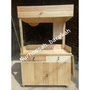 Harga gerobak kayu booth kayu rombong gerobak jati belanda | HARGALOKA.COM