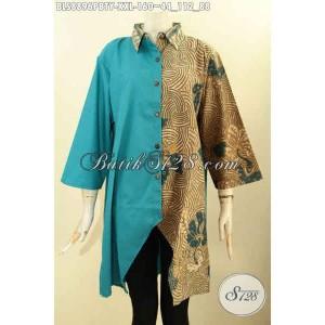 Harga blouse batik terbaru kerah lancip wanita gemuk size xxl | HARGALOKA.COM