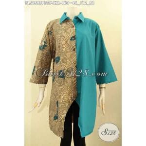 Harga batik blouse kerja wanita karir gemuk lengan size xxl | HARGALOKA.COM
