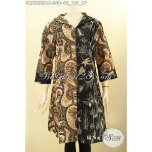 Harga busana batik dress kerja wanita motif elegan kekinian size l | HARGALOKA.COM