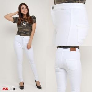 Harga highwaist skinny jsk 1101 size 31   34   putih   HARGALOKA.COM