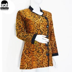 Harga dress batik modern   blouse batik wanita   batik wanita murah   004   | HARGALOKA.COM