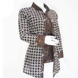 Harga dress batik modern   blouse batik wanita   batik wanita murah   005   abu abu | HARGALOKA.COM
