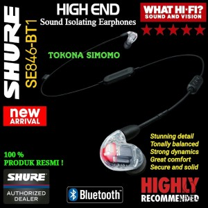 Harga shure se846 bt1 sound isolating earphones with bluetooth and | HARGALOKA.COM