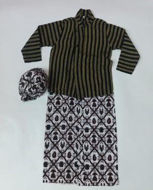 Harga baju lurik anak laki laki setelan baju lurik adat jawa anak laki laki   5 6 | HARGALOKA.COM