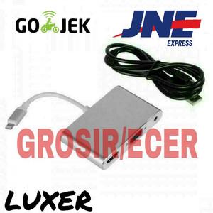 Harga kabel lightning iphone 5 6 7 ke hdmi vga lcd tv proyektor to ipad | HARGALOKA.COM