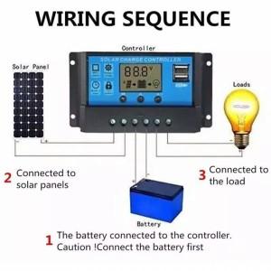 Harga solar panel charger controller panel surya 10a 12v   HARGALOKA.COM